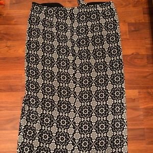 White House Black Market Long Tie Skirt